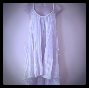 Victoria's Secret white boho babydoll nightgown